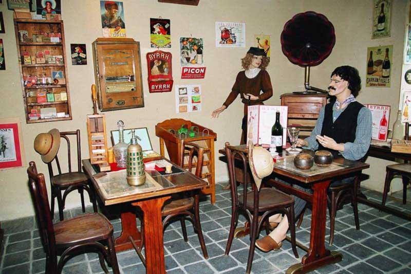 Café village 1930. Ecomusée La Petite Couère