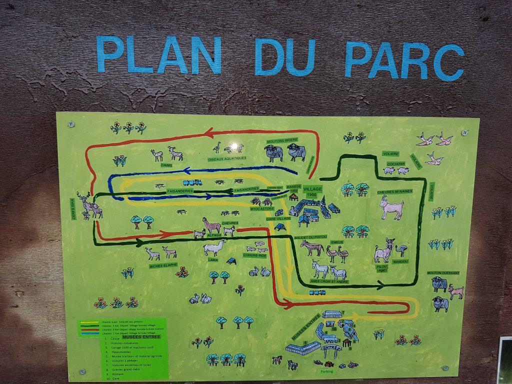 Plan du parc de La Petite Couère.